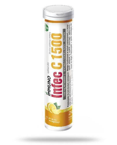 ImmunoInfec C 1500 smak cytrynowy 20 tabletek musujących  whited-out