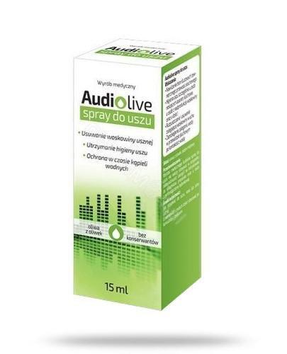 Audiolive Spray do uszu 15 ml