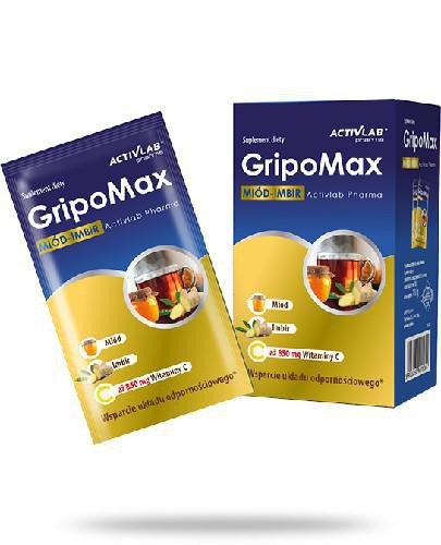 ActivLab GripoMax miód-imbir 10 saszetek