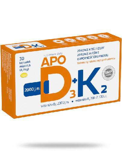 Apo D3+K2 30 kapsułek miękkich