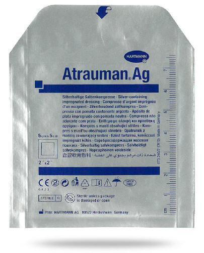 Hartmann Atrauman Ag opatrunek z maścią 5 x 5 cm 1 sztuka