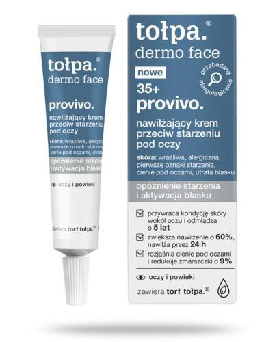 Tołpa Dermo Face 35+ provivo nawilżający krem przeciw starzeniu pod oczy 10 ml