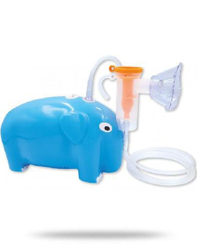 OroMed Inhalator tłokowy w kształcie słonia niebieski 1 sztuka