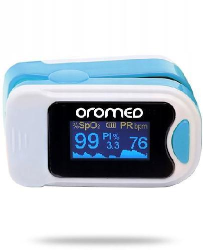 OroMed Pulsoksymetr napalcowy niebieski 1 sztuka  whited-out