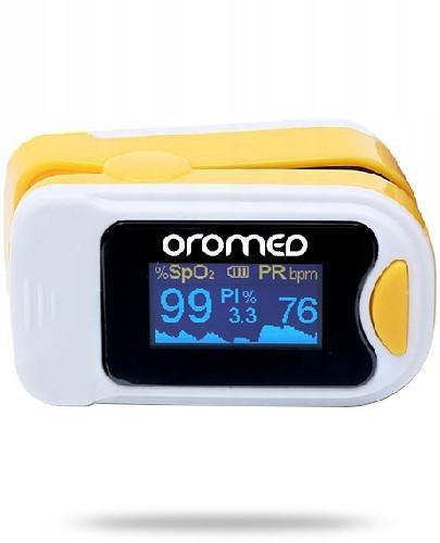 OroMed Pulsoksymetr napalcowy żółty 1 sztuka  whited-out