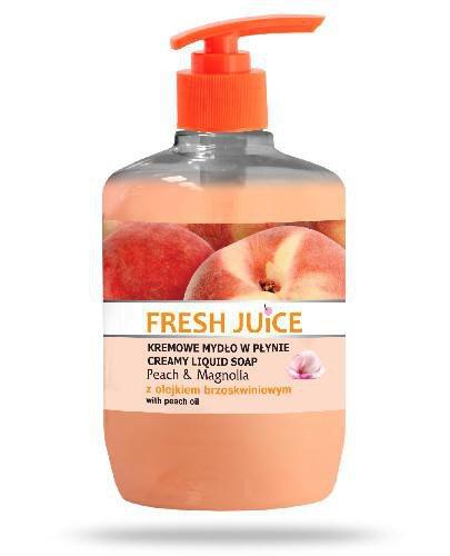 Fresh Juice kremowe mydło w płynie brzoskwinia i magnolia z olejkiem brzoskwiniowym 460 ...