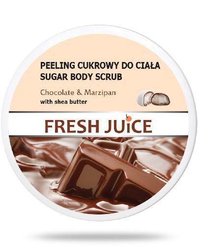 Fresh Juice Peeling cukrowy do ciała Chocolate & Marzipan z masłem shea 225 ml