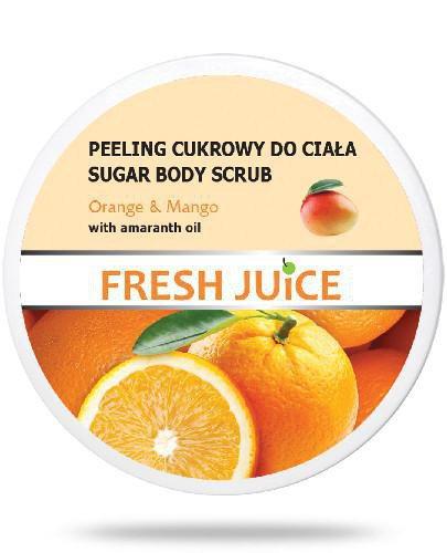 Fresh Juice Peeling cukrowy do ciała Orange & Mango z olejem z amarantusa 225 ml