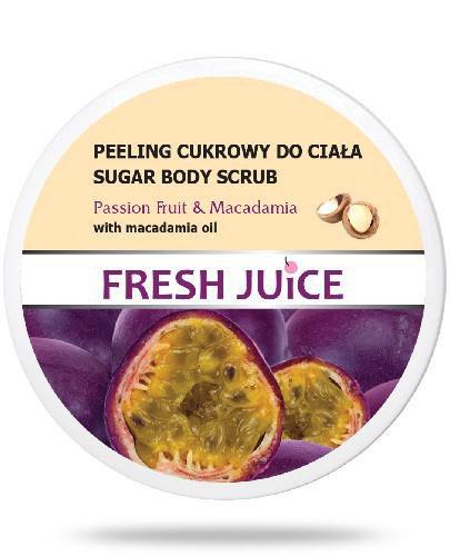 Fresh Juice Peeling cukrowy do ciała Passion Fruit & Macadamia z olejem makadamia 225 ml