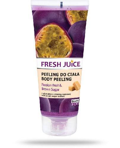 Fresh Juice Peeling do ciała Passion Fruit & Brown Sugar z ekstraktem z marakui i trzcin...