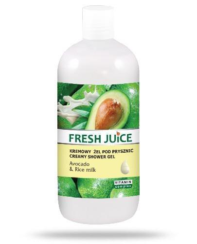 Fresh Juice kremowy żel pod prysznic Avocado & Rice Milk 500 ml