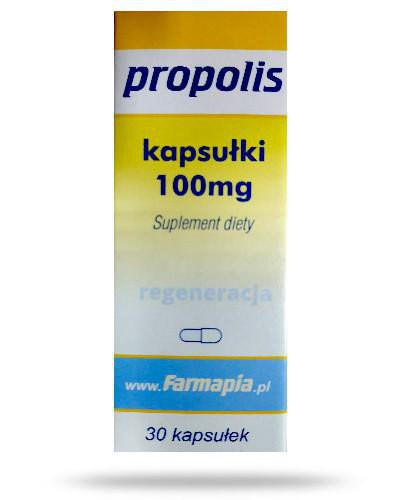 Propolis 100mg 30 kapsułek  whited-out