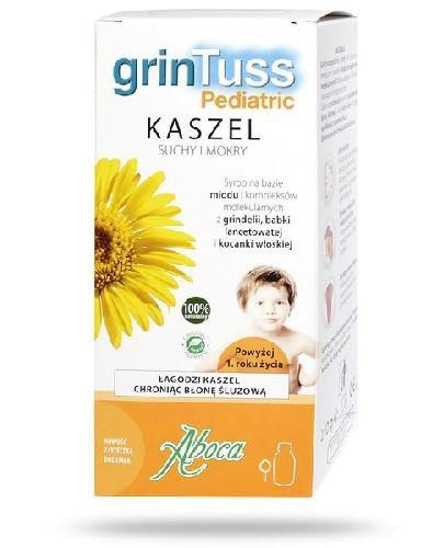 Aboca GrinTuss Pediatric Kaszel suchy i mokry syrop 210 g