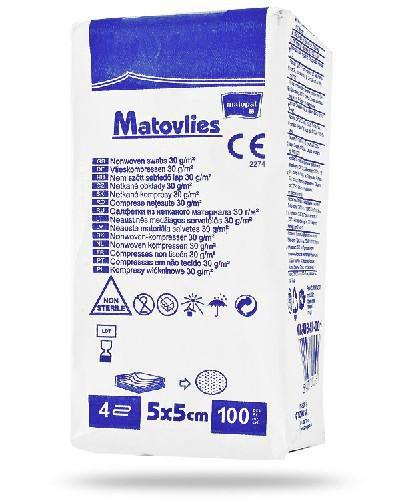Matovlies kompresy z włókniny 30g 5x5 cm 100 sztuk