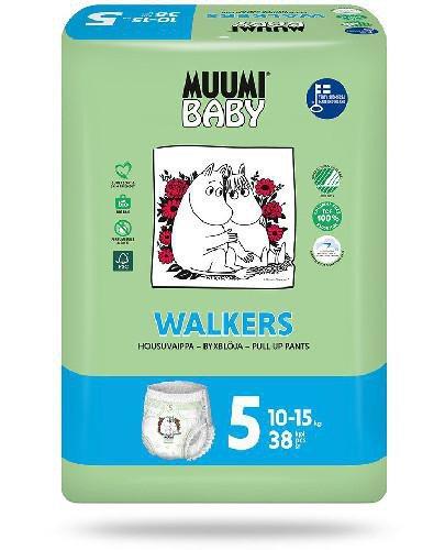 Muumi Baby 5 Walkers 10-15kg jednorazowe pieluchomajtki dla dzieci 38 sztuk