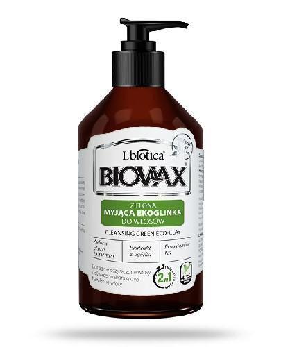 Biovax zielona myjąca ekoglinka do włosów 200 ml