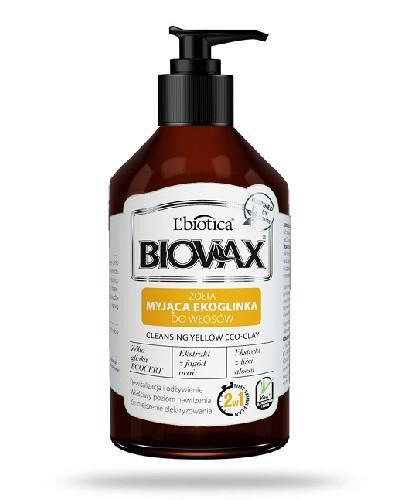 Biovax żółta myjąca ekoglinka do włosów 200 ml