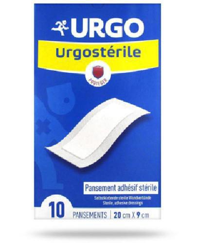 Urgo Urgosterile 20 cm x 9 cm sterylne samoprzylepne plastry 10 sztuk