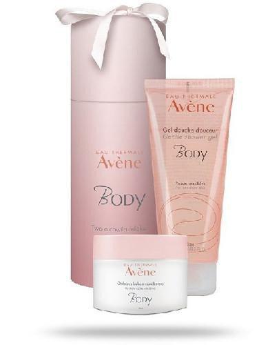 Avene Body otulający balsam nawilżający do ciała 250 ml + żel pod prysznic 200 ml [ZE...