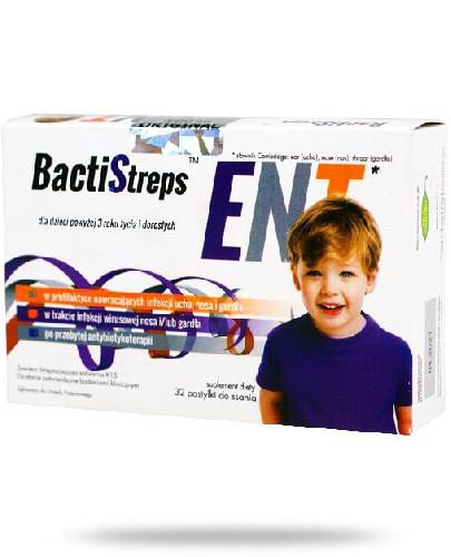 BactiStreps ENT 32 pastylki do ssania