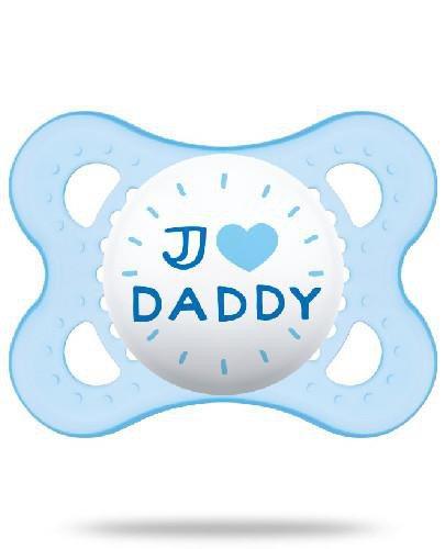 MAM Love&Affection smoczek silikonowy 2-6m uspokajający 1 sztuka [daddy_boy]