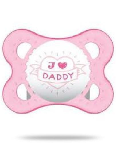 MAM Love&Affection smoczek silikonowy 2-6m uspokajający 1 sztuka [daddy_girl]