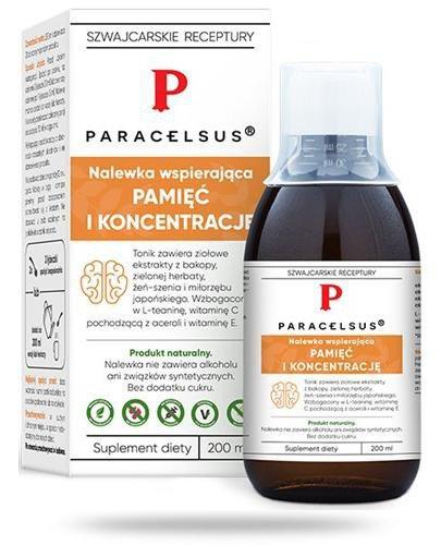 Aura Herbals Paracelsus nalewka pamięć i koncentracja 200 ml