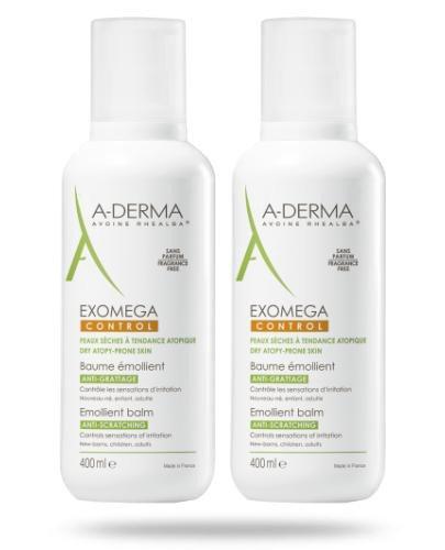 A-Derma Exomega Control balsam emolient Rich++ przeciw drapaniu 2x 400 ml