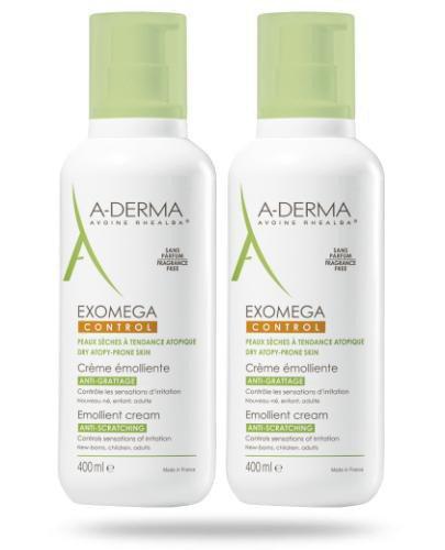 A-Derma Exomega Control krem emolient Rich+ przeciw drapaniu 2x 400 ml