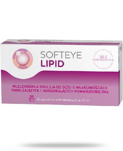 Softeye Lipid emulsja do oczu 20 pojemników x 0,3 ml