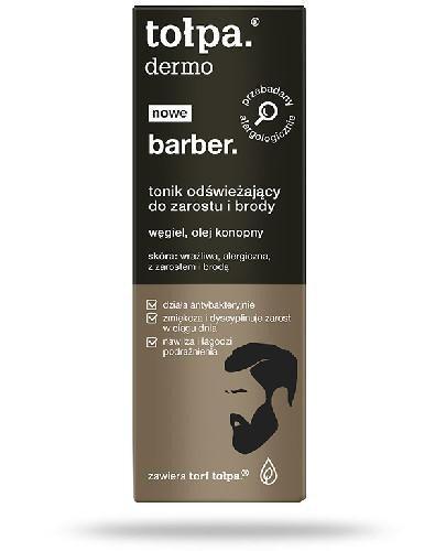 Tołpa Dermo Barber. tonik odświeżający do zarostu i brody 75 ml