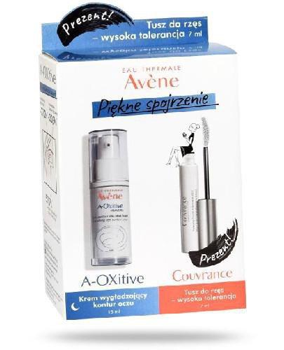 Avene A-OXitive krem wygładzający kontur oczu 15 ml + tusz do rzęs - wysoka tolerancj...