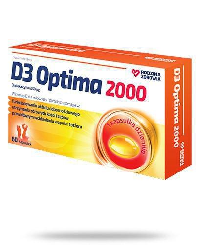 Rodzina Zdrowia D3 Optima 2000 60 kapsułek
