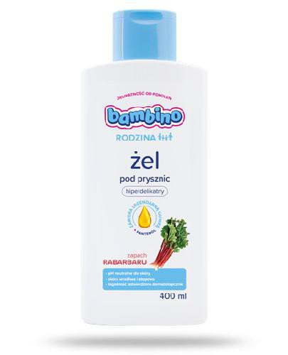 Bambino Rodzina żel pod prysznic zapachu rabarbaru 400 ml