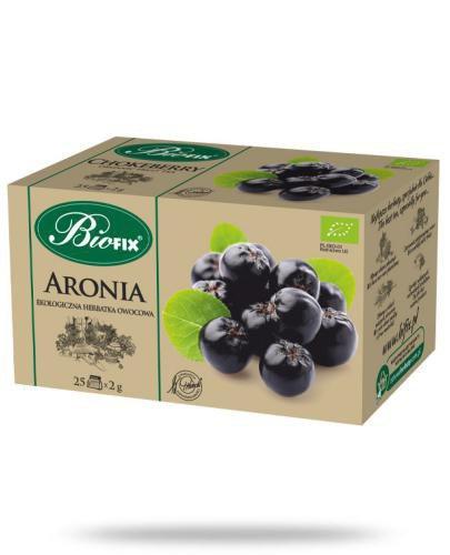 BiFix Herbata aronia - ekologiczna ekspresowa 25 saszetek