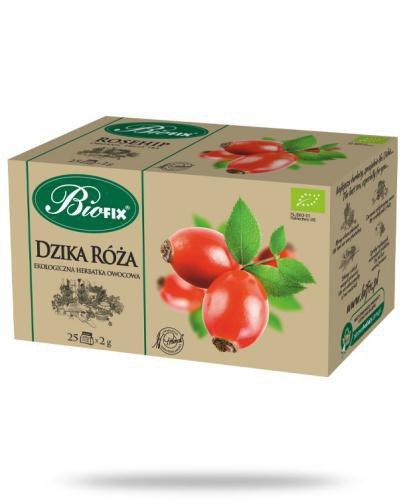 BiFix Herbata dzika róża - ekologiczna ekspresowa 25 saszetek
