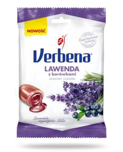 Verbena Lawenda z borówką cukierki ziołowe 60 g