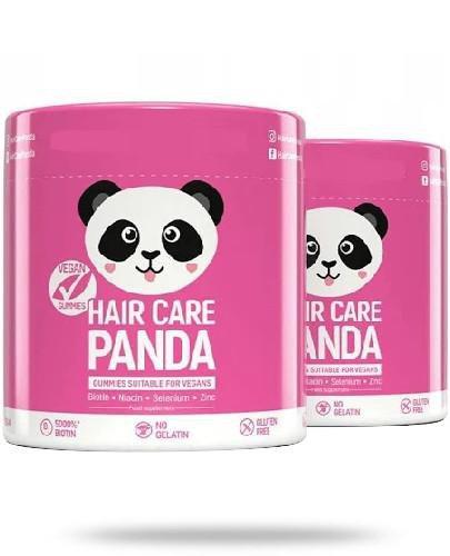 Noble Health Hair Care Panda witaminy na włosy w żelkach 2 x 300 g [DWUPAK]  whited-out