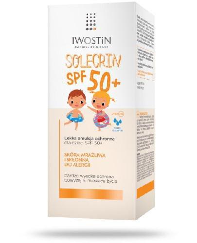 Iwostin Solecrin lekka emulsja ochronna dla dzieci SPF 50+ 100 ml