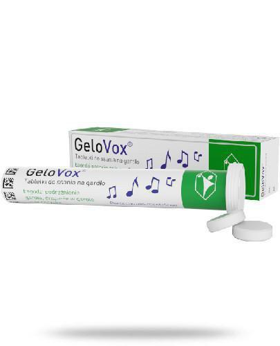GeloVox tabletki do ssania na gardło porzeczkowo-mentolowe 20 sztuk