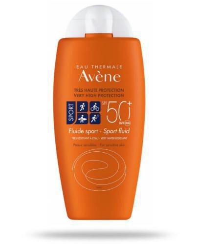 Avene Sport fluid sportowy SPF50+ 100 ml [KUP 2 produkty = Avene body masło 100 ml GRATI...