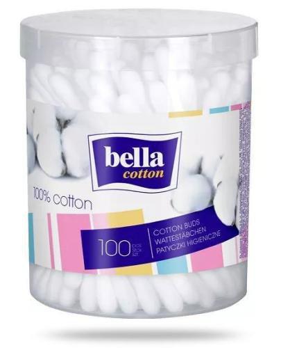 Bella Cotton patyczki higieniczne okrągłe pudełko 100 sztuk