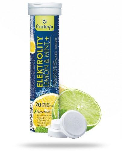 Protego Elektrolity Lemon&Mint+ 20 tabletek musujących