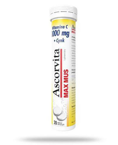 Ascorvita Max 20 tabletek musujących