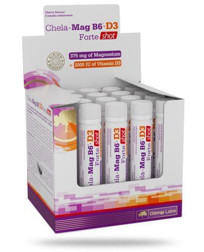 Olimp Chela-Mag B6+D3 Forte Shot smak wiśniowy 25 ml