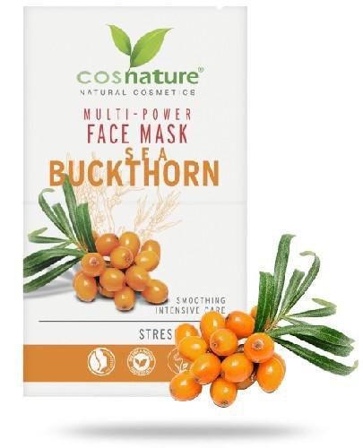 Cosnature Naturalna multi-odżywcza maska do twarzy z rokitnikiem 2 x 8 ml
