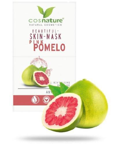 Cosnature Naturalna upiększająca maska do twarzy z różowym pomelo 2 x 8 ml