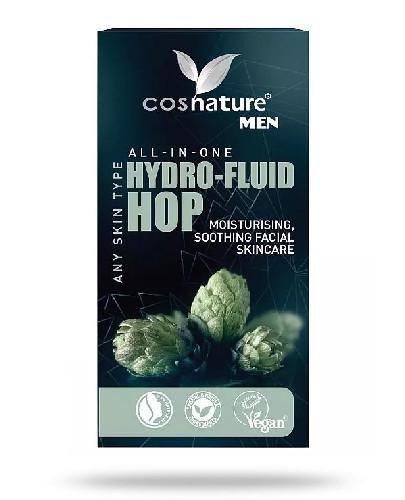 Cosnature Men Naturalny nawilżający fluid z wyciągiem z szyszek chmielu 50 ml