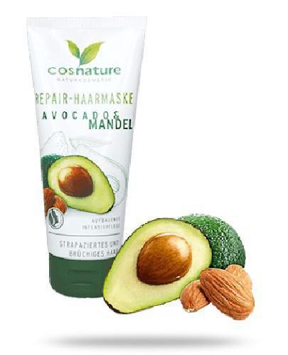 Cosnature Naturalna regenerująca maska do włosów z awokado i migdałami 100 ml