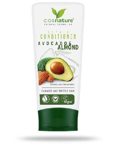 Cosnature Naturalna regenerująca odżywka do włosów z awokado i migdałami 200 ml